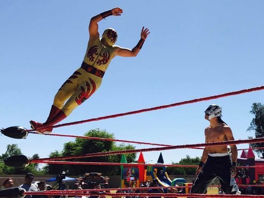Rare lucha libre match happening at Lafayette Taco Fest
