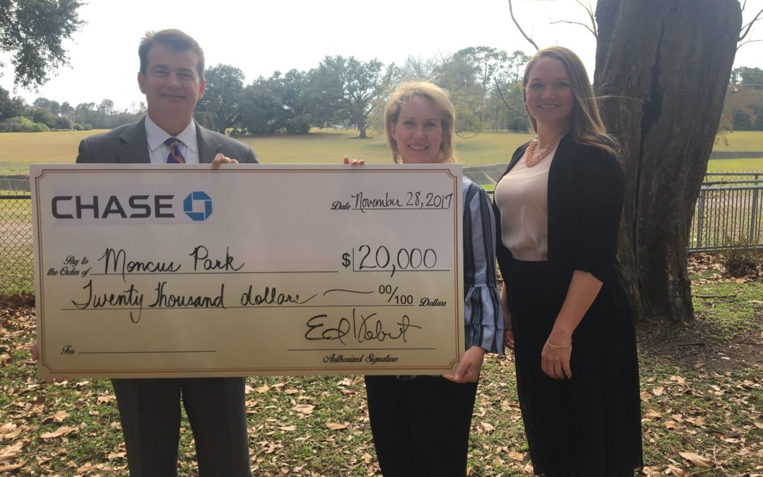 JPMorgan Chase Bank awards $20,000 grant to park