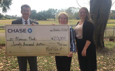 JPMorgan Chase Bank awards $20,000 grant to park