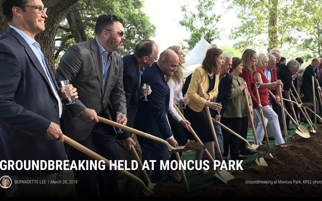 Groundbreaking held at Moncus Park