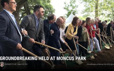 Groundbreaking held at Moncus Park