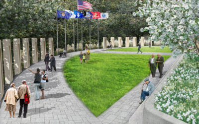 The Veterans' Memorial at Moncus Park receives gift from Pinhook Foundation