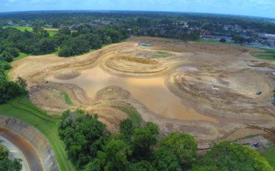 Moncus Park construction halfway complete